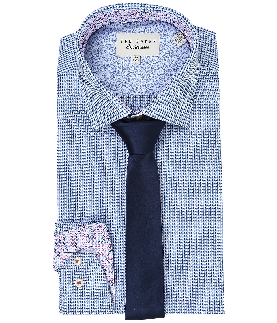 Ted Baker - Abasing Endurance Sterling Shirt (Blue) Men's Long Sleeve Button Up