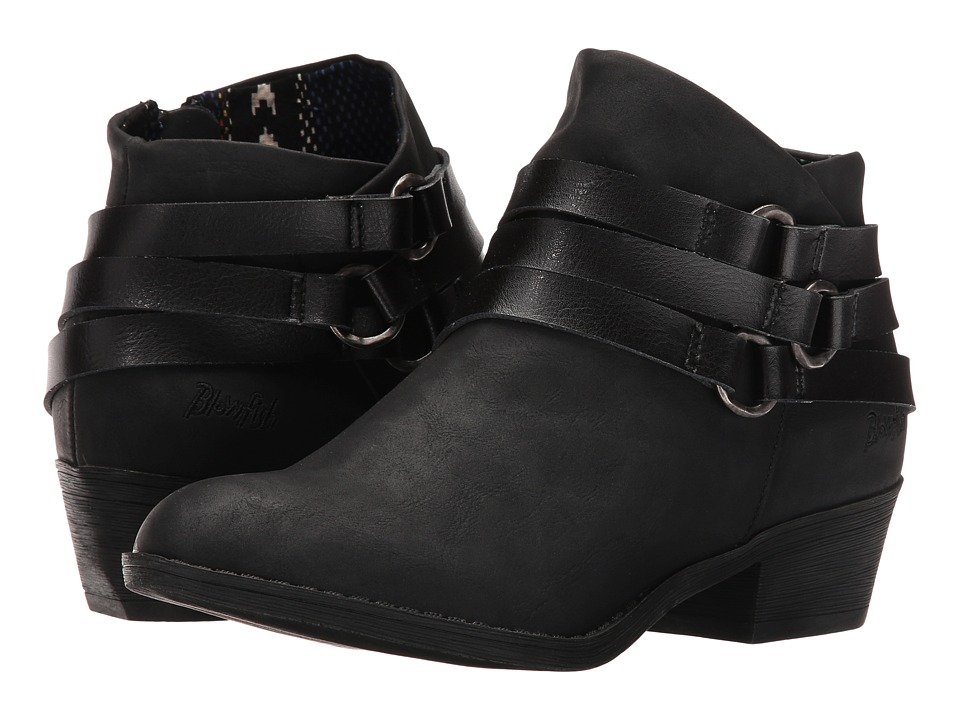 Blowfish - Sanger (Black Texas PU/Dyecut PU) Women's Boots
