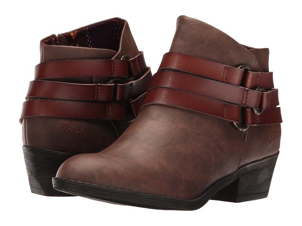 Blowfish - Sanger (Coffee Texas PU/Whiskey Dyecut) Women's Boots