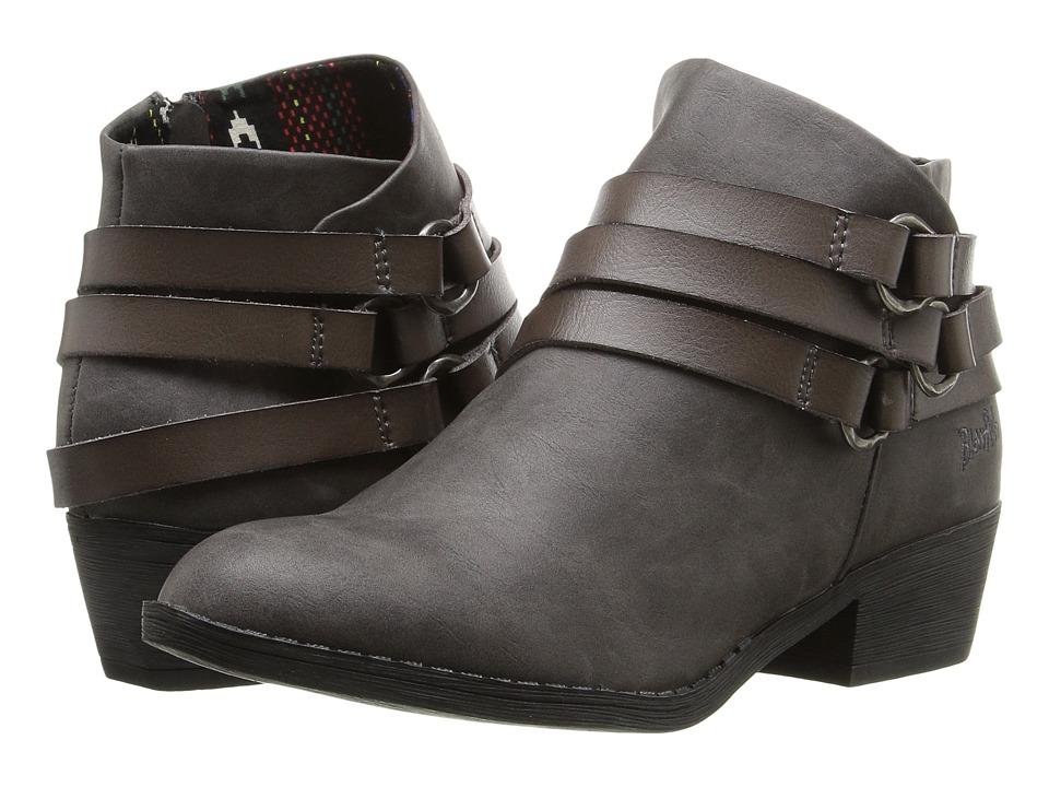 Blowfish - Sanger (Grey Texas PU/Steel Grey Dyecut) Women's Boots