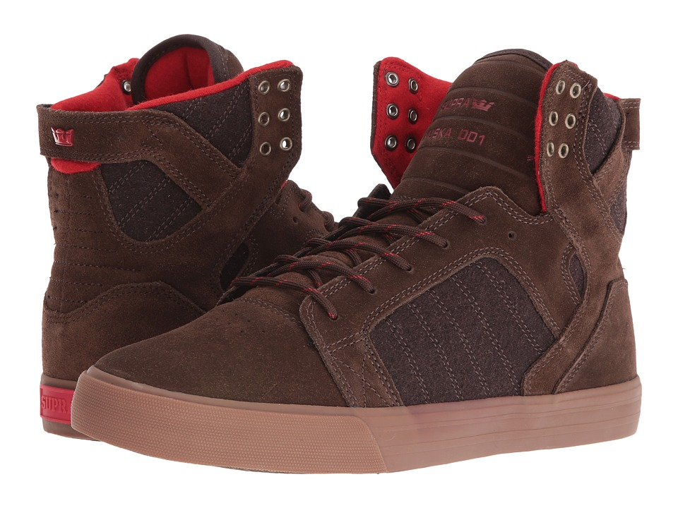 Supra - Skytop (Brown/Gum) Men's Skate Shoes