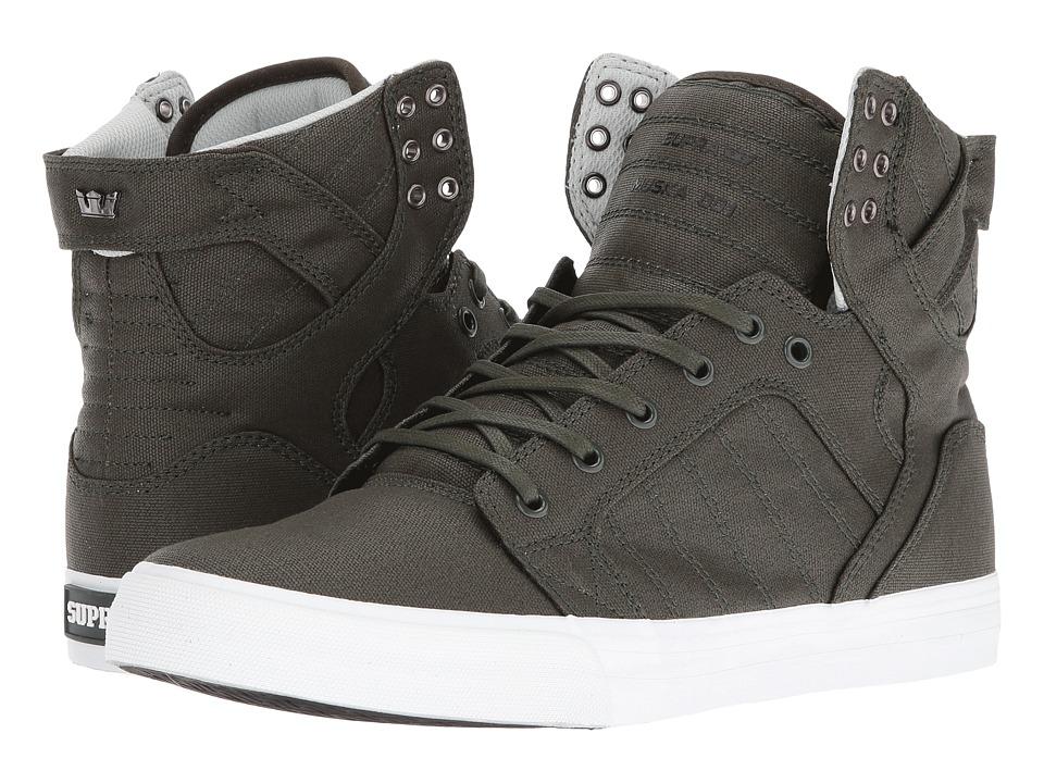 Supra - Skytop (Dark Olive/White) Men's Skate Shoes