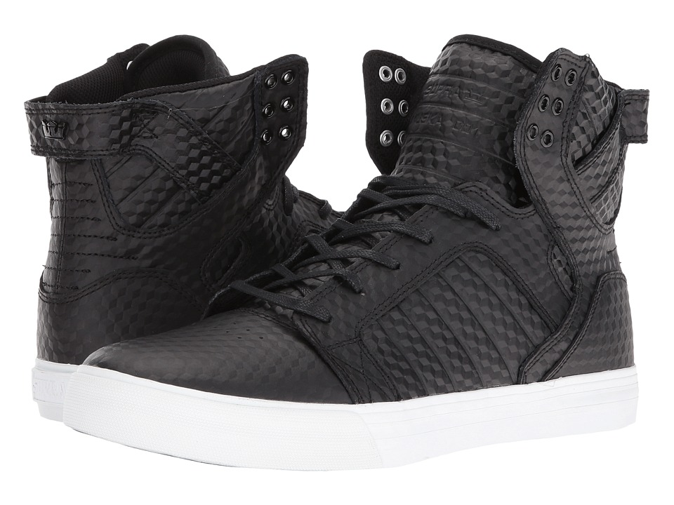 Supra - Skytop (Black Leather/White) Men's Skate Shoes