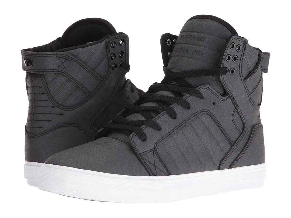 Supra - Skytop (Black Fiberglass/White) Men's Skate Shoes