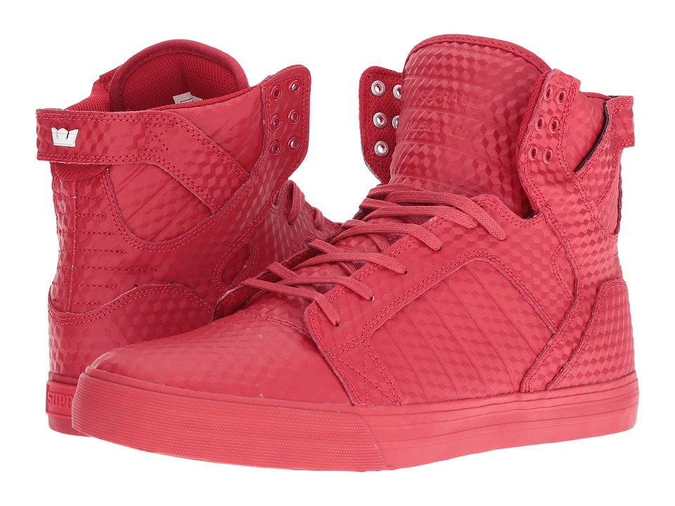 Supra - Skytop (Red/Red) Men's Skate Shoes