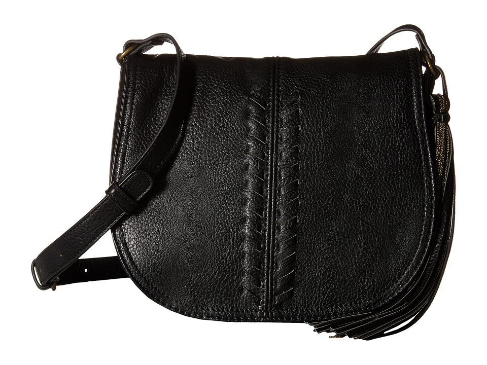 CARLOS by Carlos Santana - Sadie Saddle Bag (Black) Handbags