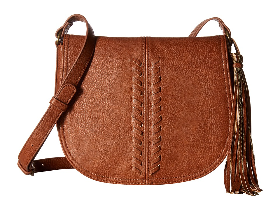 CARLOS by Carlos Santana - Sadie Saddle Bag (Cognac) Handbags