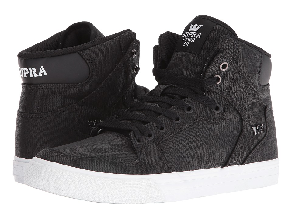 Supra - Vaider (Black/Waxed Canvas) Skate Shoes