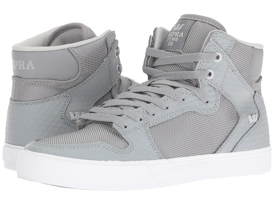 Supra - Vaider (Grey Leather/White) Skate Shoes