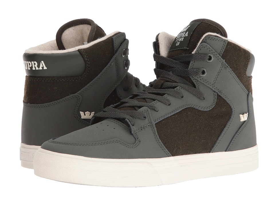 Supra Vaider (Dark Olive/White) Skate Shoes