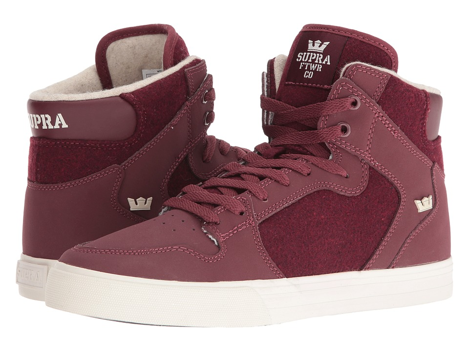 Supra - Vaider (Burgundy/White 2) Skate Shoes