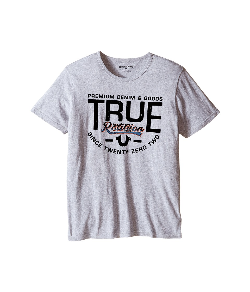 True Religion Kids - Denim Goods T-Shirt (Big Kids) (Heather Grey) Boy's T Shirt