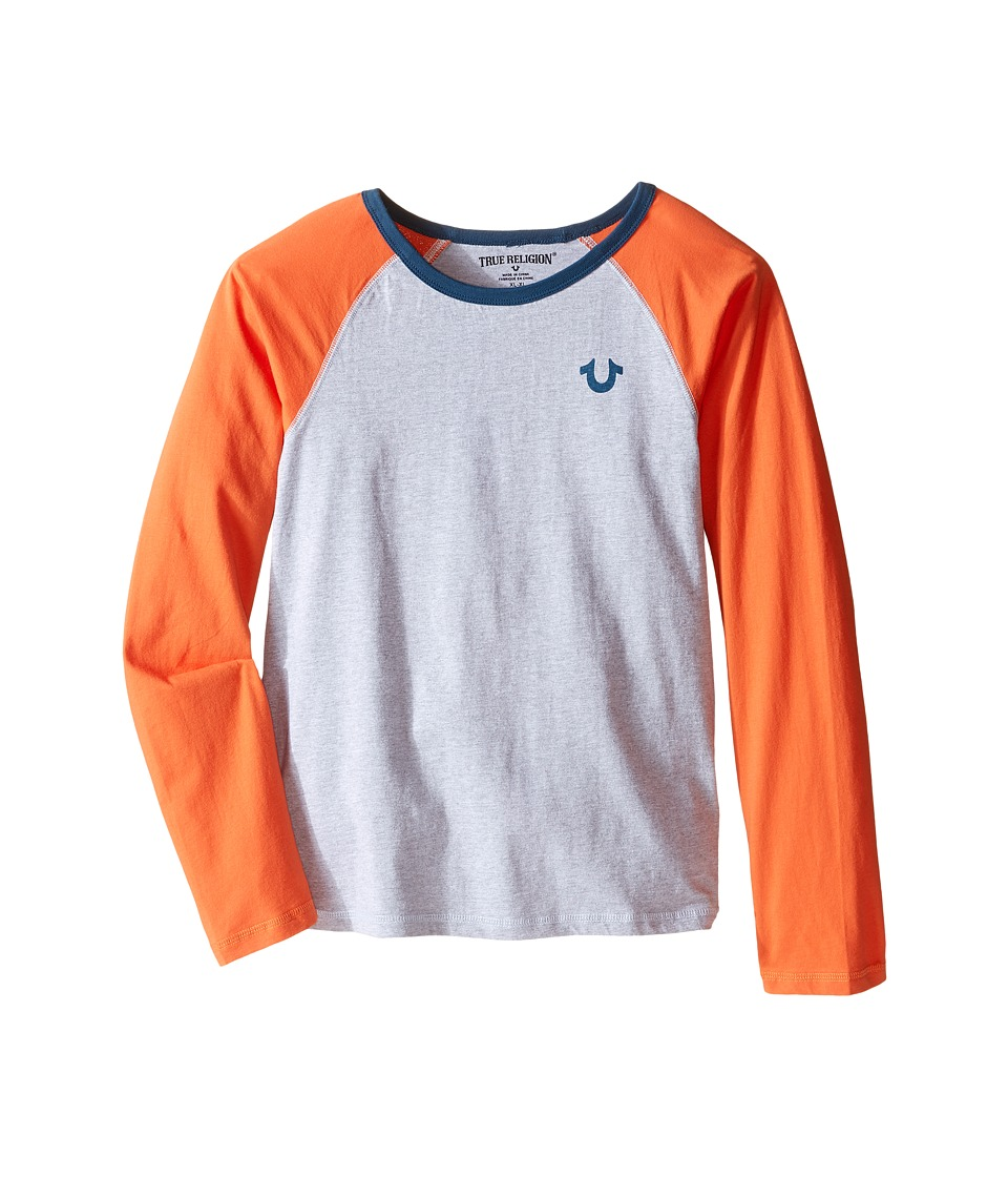 True Religion Kids - Color Block Raglan T-Shirt (Big Kids) (Heather Grey) Boy's T Shirt