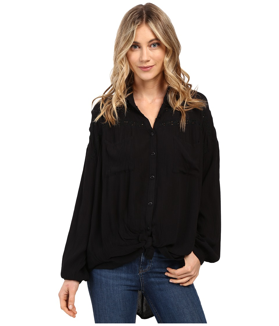 Amuse Society - Covina Woven Top (Black) Women's Clothing