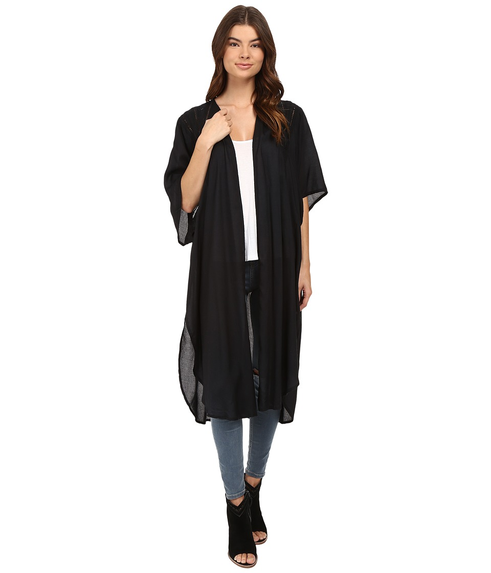 Amuse Society - Traveler Kimono Top (Black) Women's Clothing