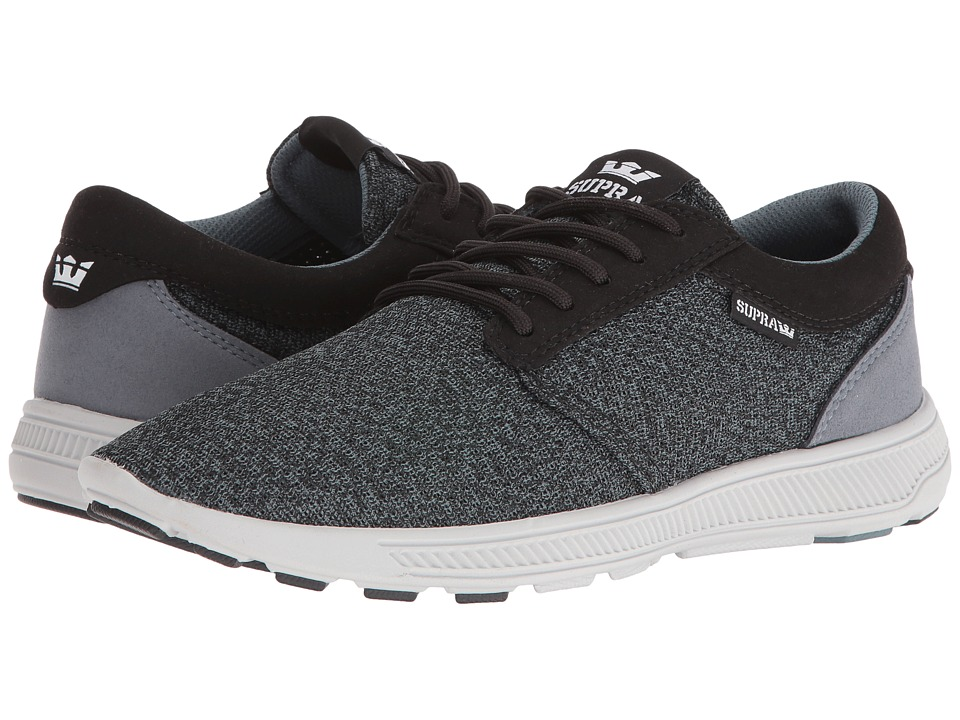 Supra - Hammer Run (Black Heather/Slate Blue/Light Grey) Men's Skate Shoes