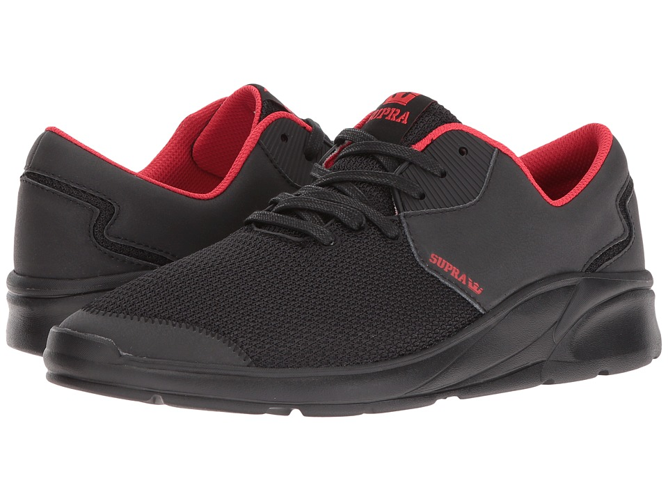 Supra - Noiz (Black/Red/Black) Men's Skate Shoes