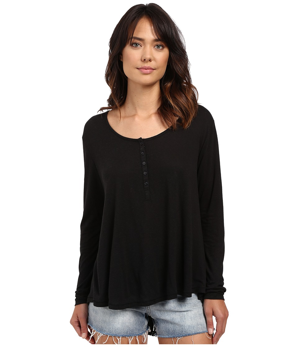 Amuse Society - Kellyn Knit Long Sleeve Top (Black) Women's Clothing