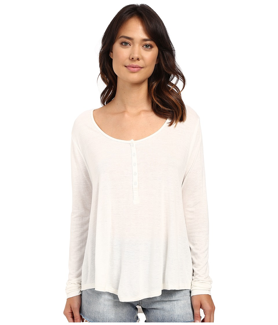 Amuse Society - Kellyn Knit Long Sleeve Top (White) Women's Clothing