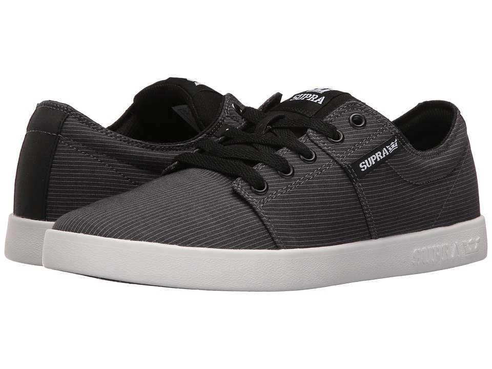 Supra - Stacks II (Dark Grey Stripe/White) Men's Skate Shoes