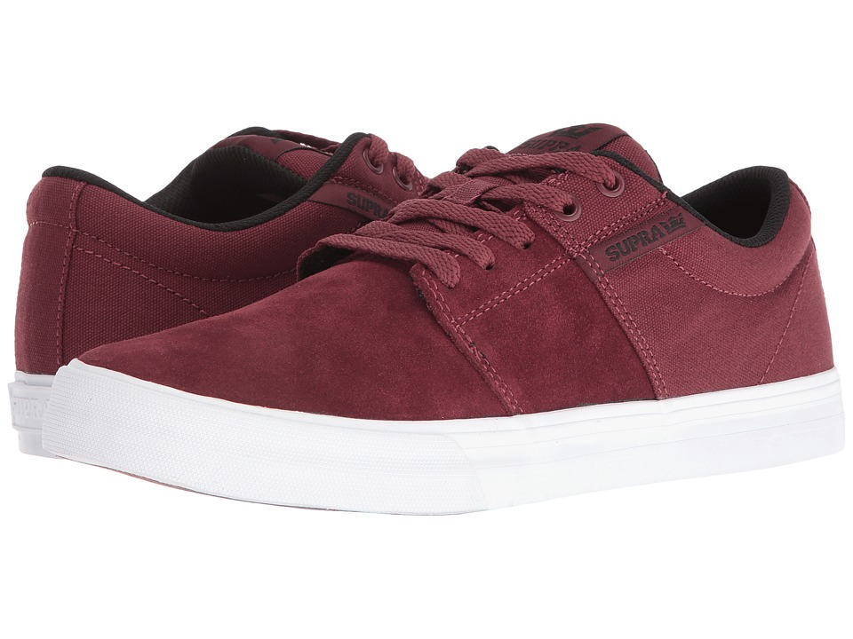 Supra - Stacks Vulc II (Burgundy/Black/White) Men's Skate Shoes