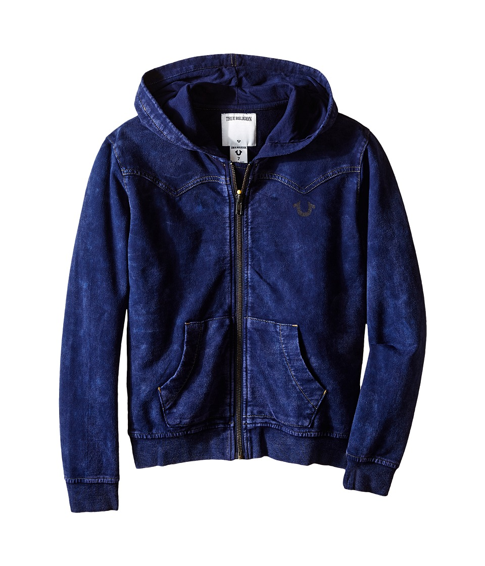 True Religion Kids - French Terry Western Hoodie (Toddler/Little Kids) (Indigo) Boy's Sweatshirt