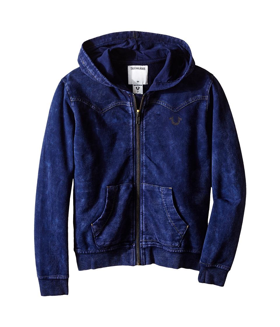 True Religion Kids - French Terry Western Hoodie (Toddler/Little Kids) (Indigo) Boy's Sweatshirt