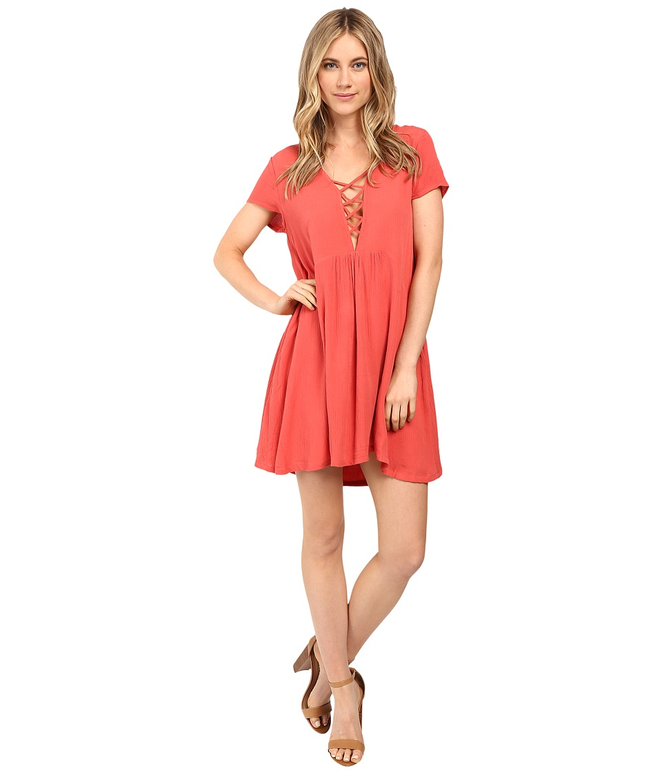 Amuse Society - Ludlow Dress (Red) Women's Dress