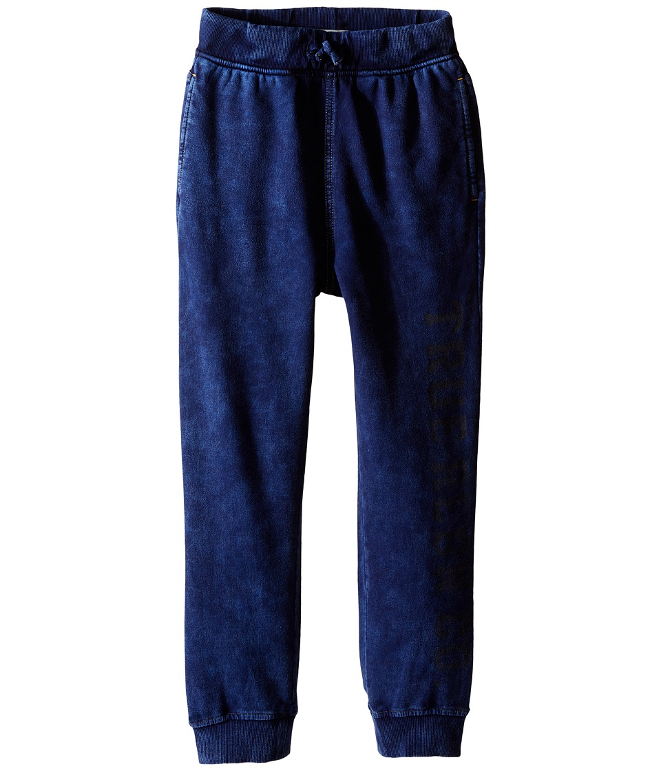 True Religion Kids - French Terry Drop Crotch Sweatpants (Toddler/Little Kids) (Indigo) Boy's Casual Pants