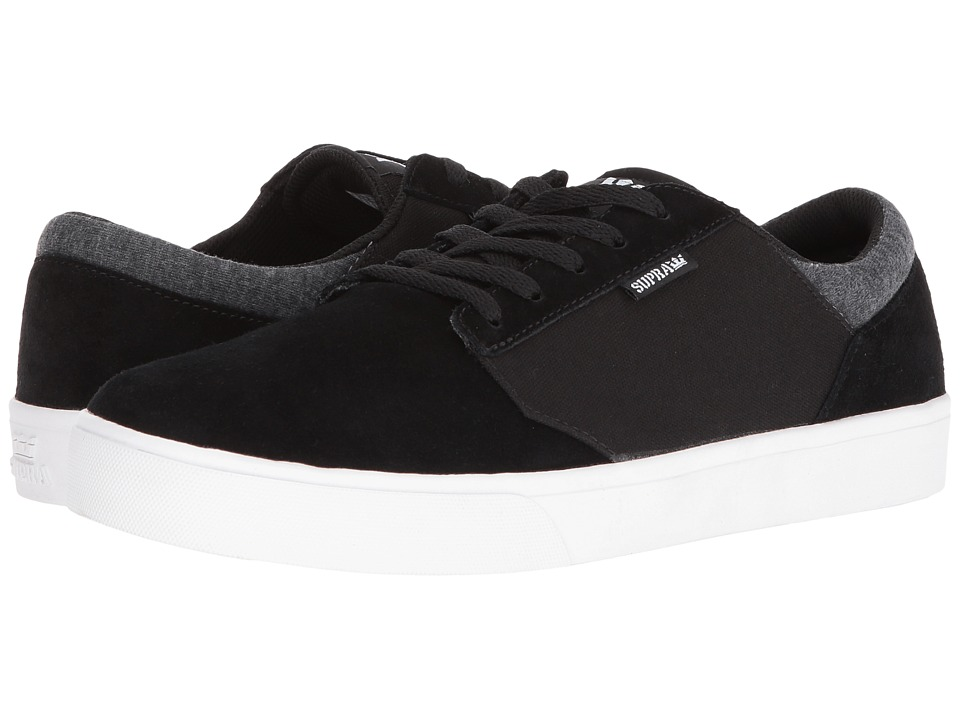 Supra - Yorek Low (Black Suede/White) Men's Skate Shoes