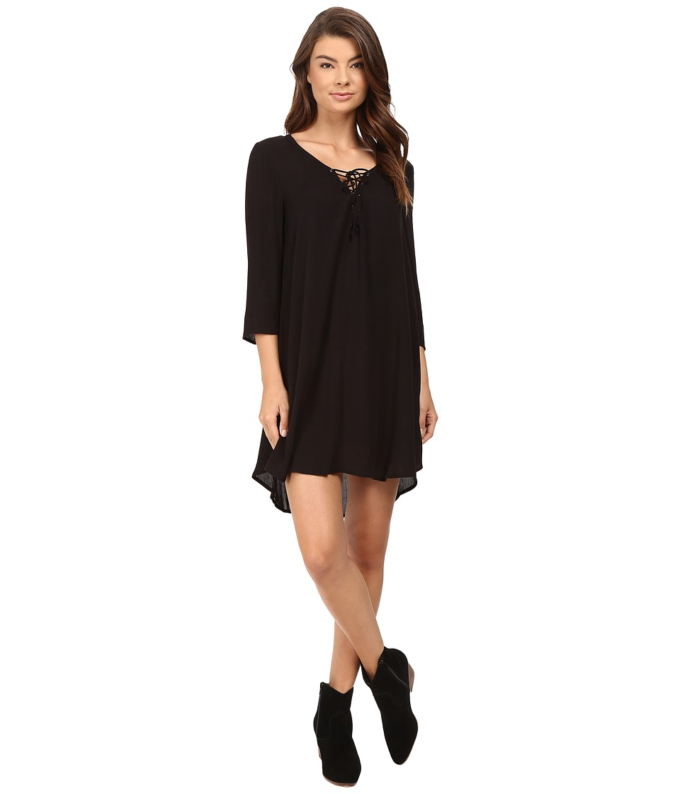 Amuse Society - Addyson Dress (Solid Black) Women's Dress