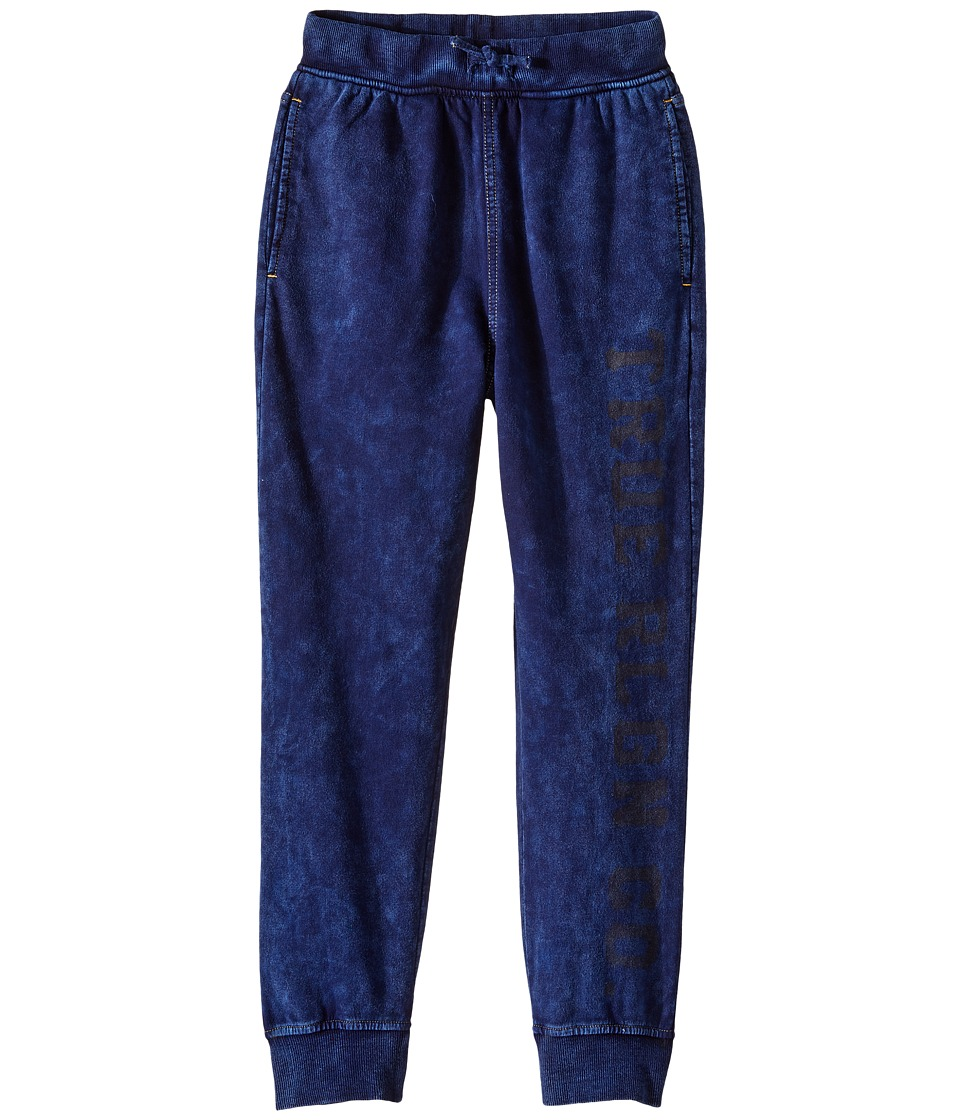 True Religion Kids - French Terry Drop Crotch Sweatpants (Big Kids) (Indigo) Boy's Casual Pants