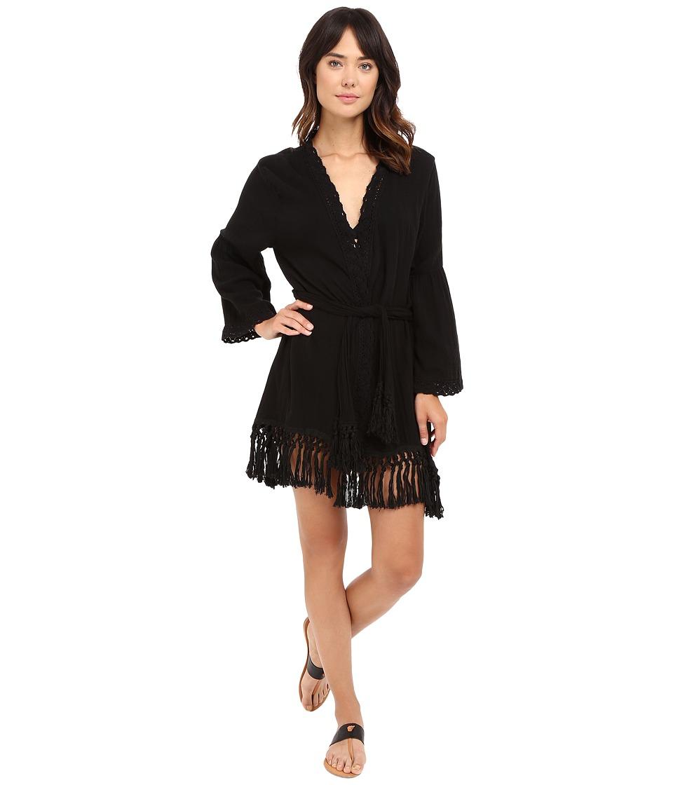 Billabong - Wrap It Up Kimono Cover-Up (Off-Black) Women's Swimwear