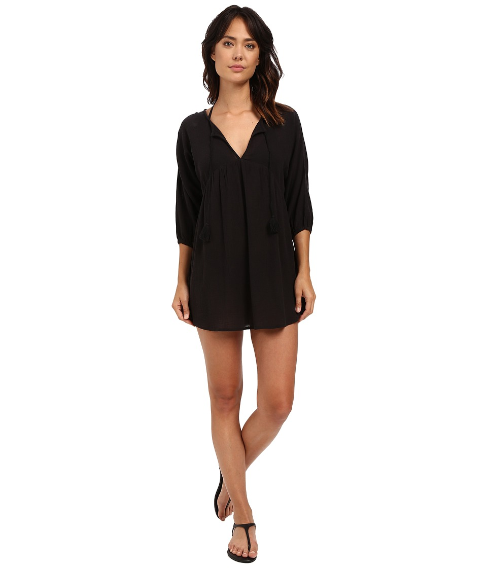 Billabong - Wild Shores Dress Cover-Up (Off-Black) Women