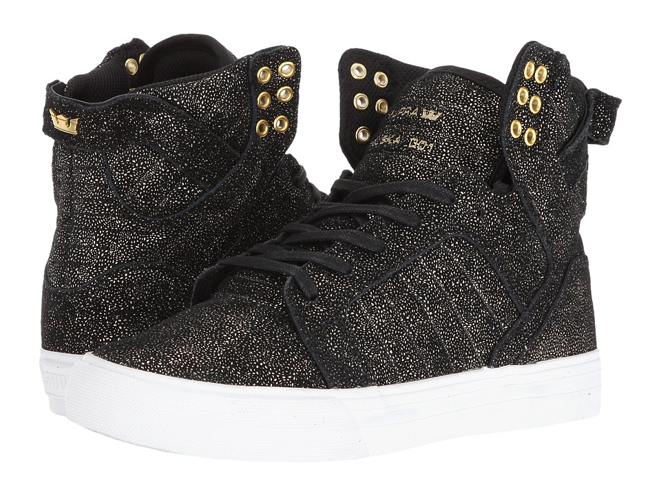 Supra - Skytop (Black/Gold Suede/White) Women's Skate Shoes