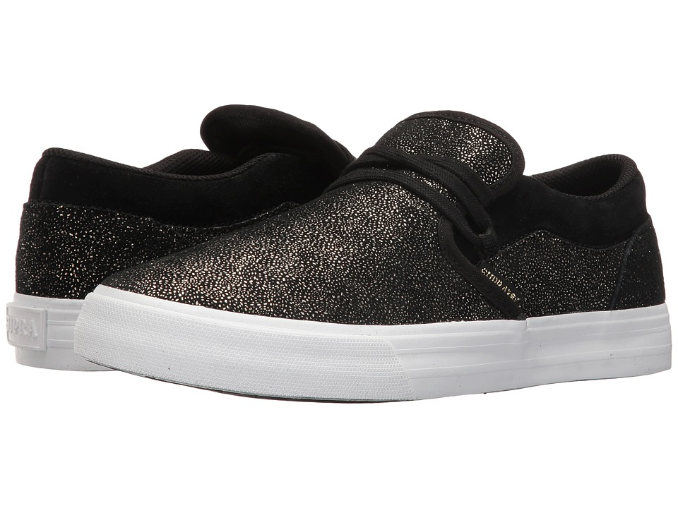 Supra - Cuba (Black/Gold/White) Women's Skate Shoes