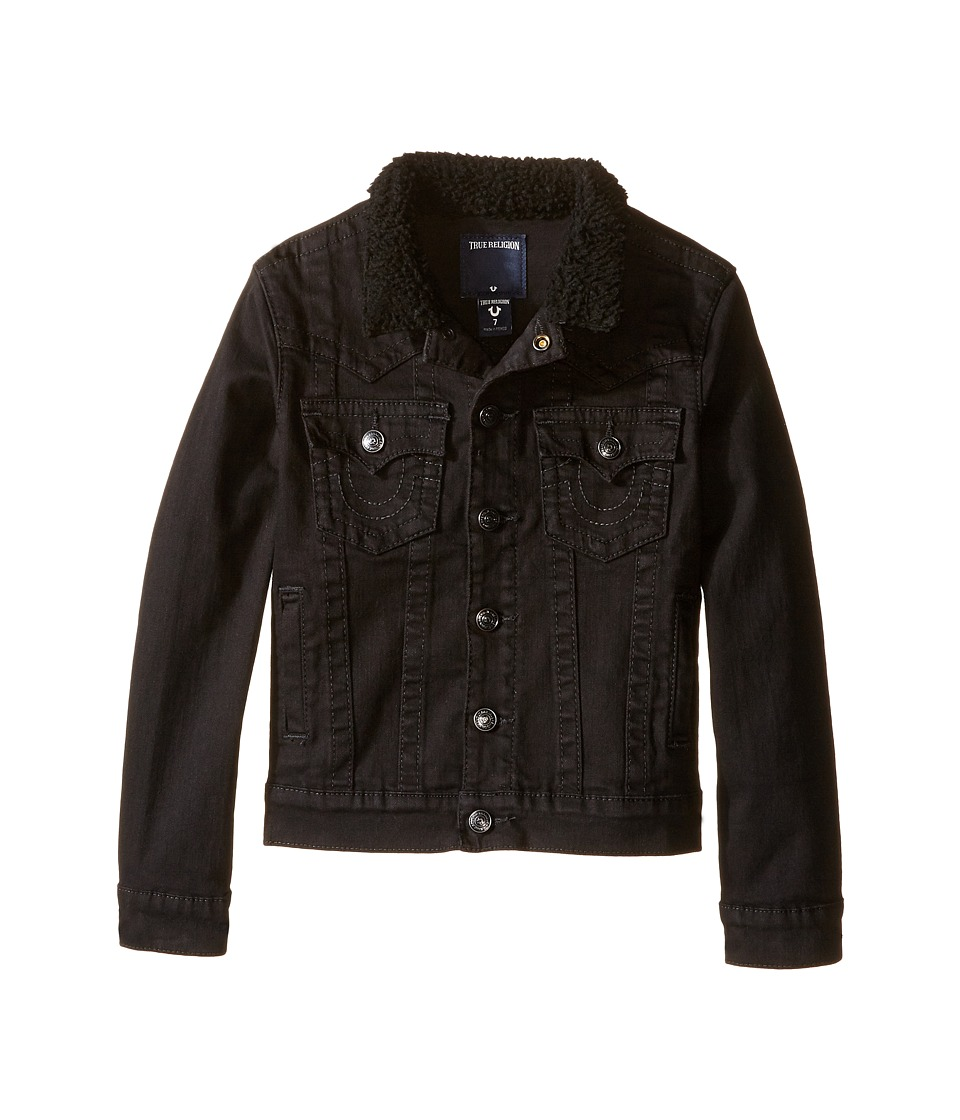 True Religion Kids - Jimmy Single End Jacket (Toddler/Little Kids) (Charred Black) Boy's Coat