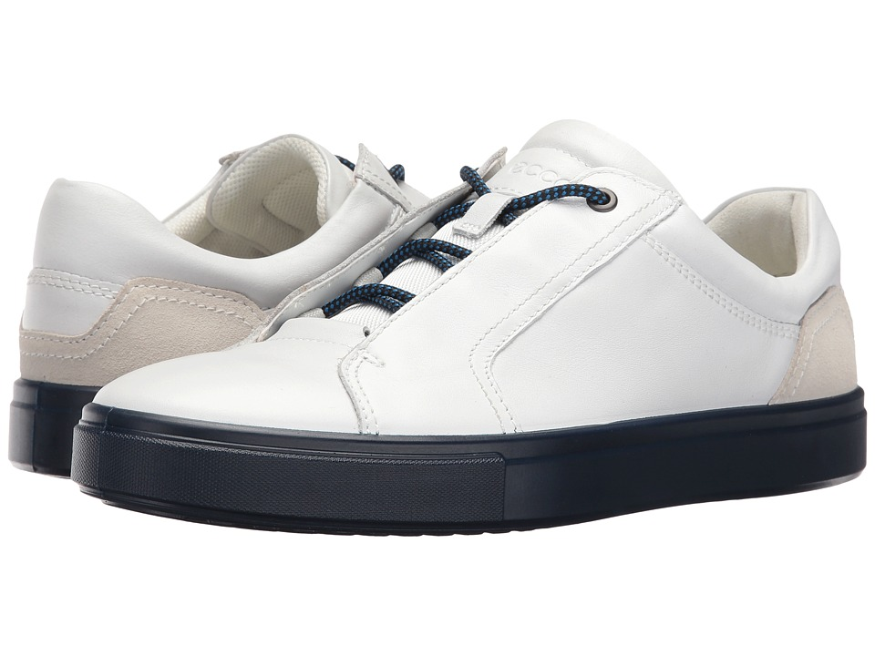 ECCO - Kyle Street Sneaker (White/Shadow White) Men's Lace up casual Shoes