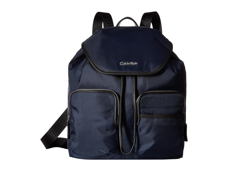 Calvin Klein - Parker Ballistic Nylon Backpack (Navy) Backpack Bags