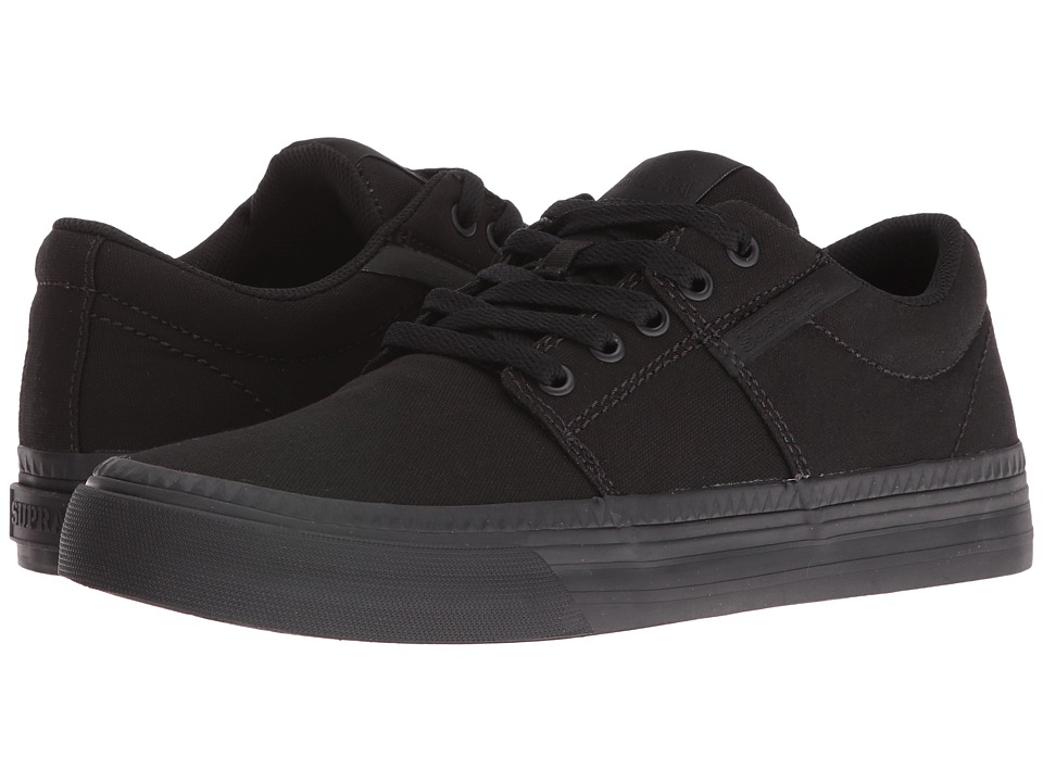 Supra - Stacks Vulc II HF (Black Canvas/Black) Men's Skate Shoes