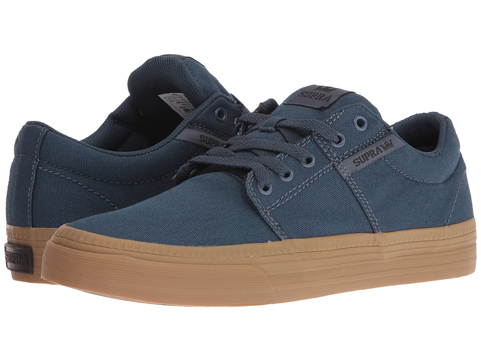 Supra - Stacks Vulc II HF (Navy Canvas/Gum) Men's Skate Shoes