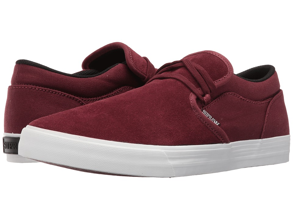 Supra - Cuba (Burgundy/White) Men's Skate Shoes