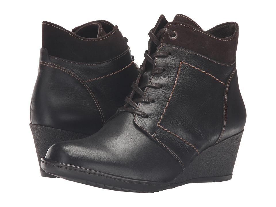 Spring Step - Sem (Dark Brown) Women's Dress Lace-up Boots
