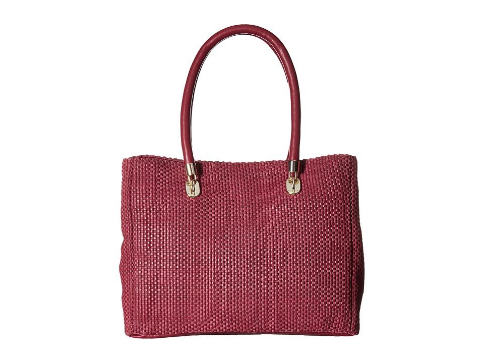 Cole Haan - Benson Woven Tote (Cabernet) Tote Handbags
