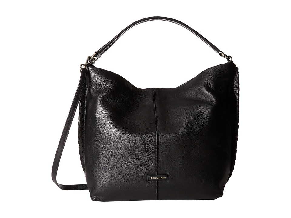 Cole Haan - Addey II Double Strap Hobo (Black) Hobo Handbags