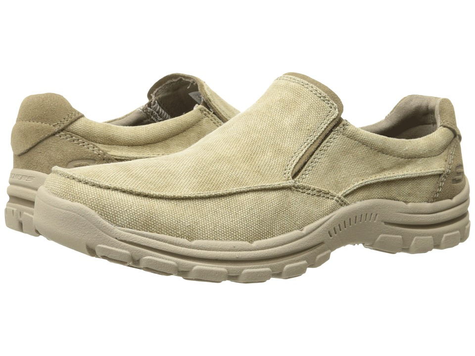 SKECHERS - Relaxed Fit Braver - Randon (Khaki) Men's Shoes
