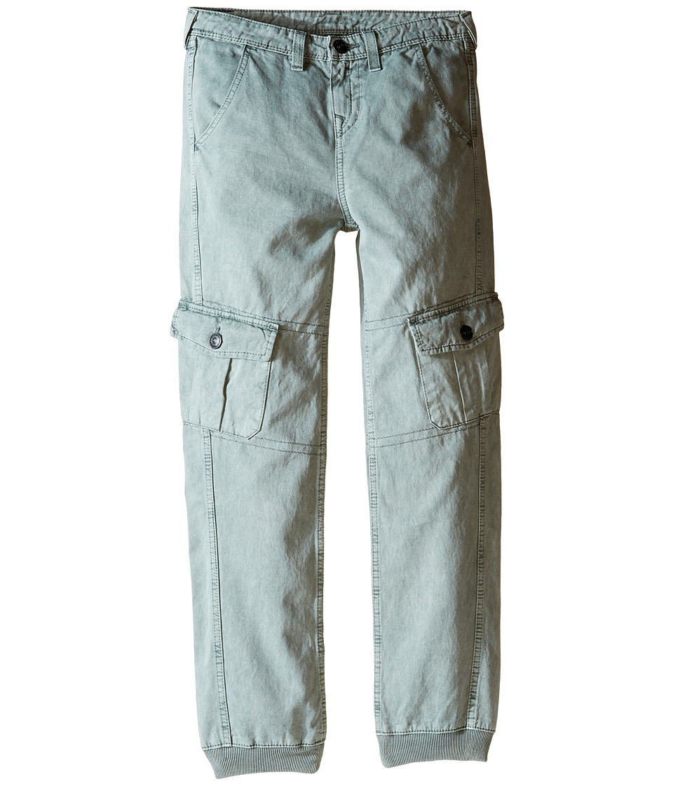 True Religion Kids - Cargo Runner Pants (Big Kids) (Cement Grey) Boy's Casual Pants