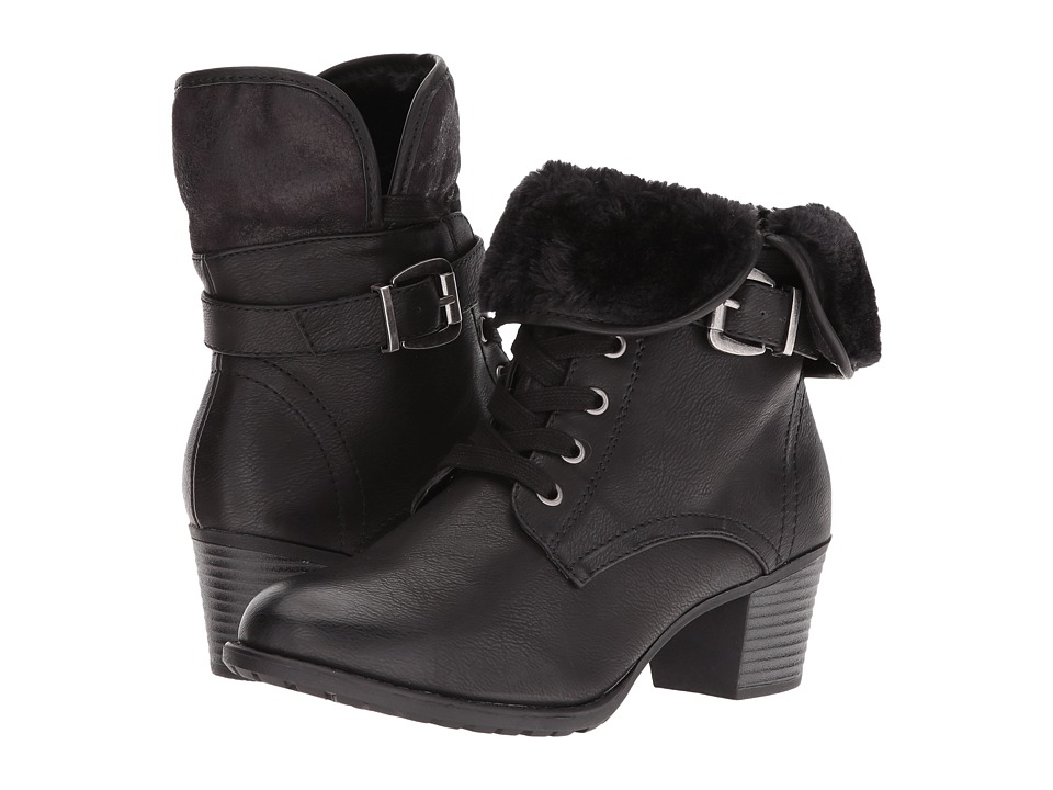 Spring Step - Liona (Black) Women's Lace-up Boots