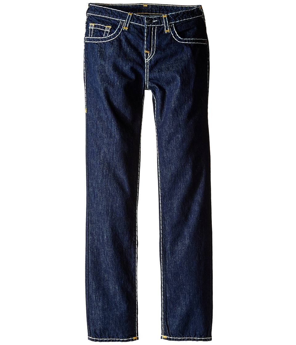 True Religion Kids - Geno Contrast Super T Jeans in Rinse/Gold (Big Kids) (Rinse/Gold) Boy's Jeans