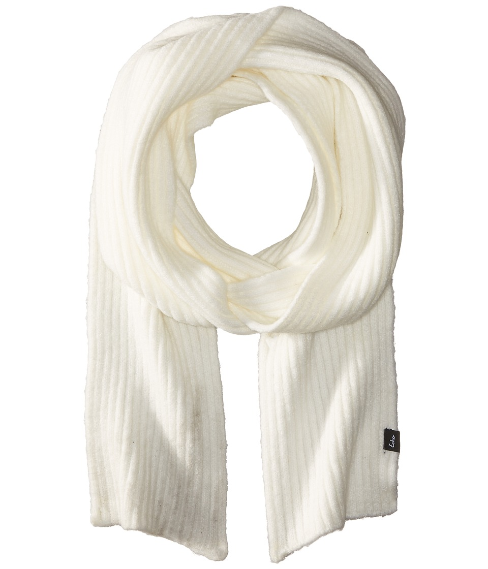 Echo Design - Stretch Fleece Muffler (White) Scarves